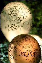 wedding balloon centrepiece